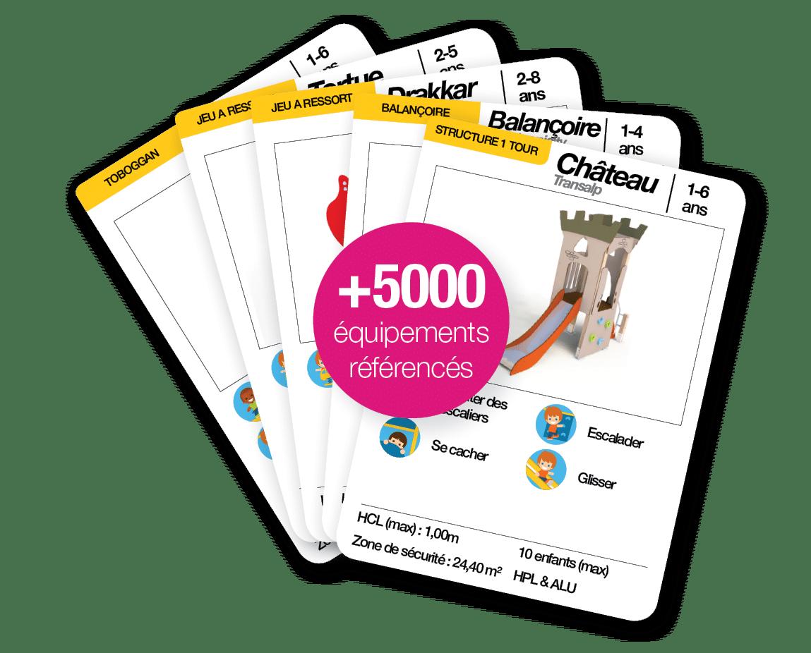 5000 équipements d'aires de jeux et équipements sportifs