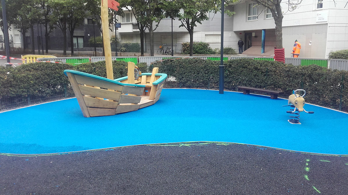 Aire de jeux thématique bord de mer à Courbevoie - Square Raphaël