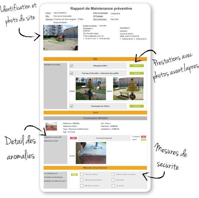 Rapport d'intervention RécréaTool - Gestion de patrimoine d'aires de jeux et équipements sportifs