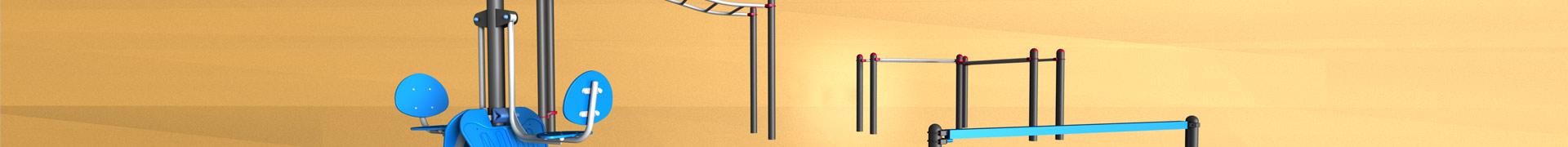 Bandeau grande aire de street-workout poutre barres presse à quadriceps