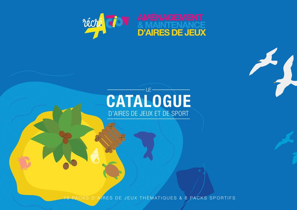 Couverture du catalogue de pack aires de jeux thématiques et équipements sportifs - Cliquer pour accéder au catalogue
