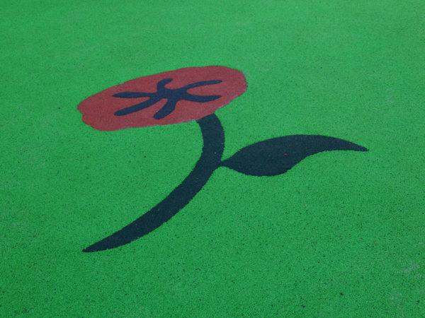 Aire de jeux thématique cueillette de fleurs à Villejuif