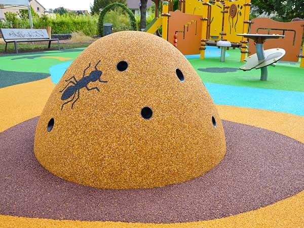 Motifs de sol souple 3D crocodile aire de jeux thématique jungle