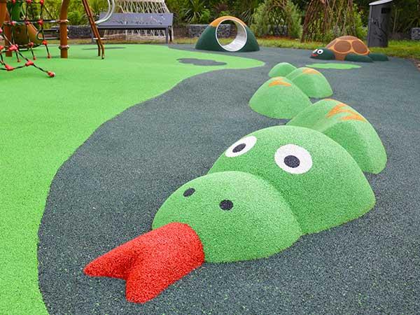 Motifs de sol souple 3D serpent aire de jeux thématique jungle