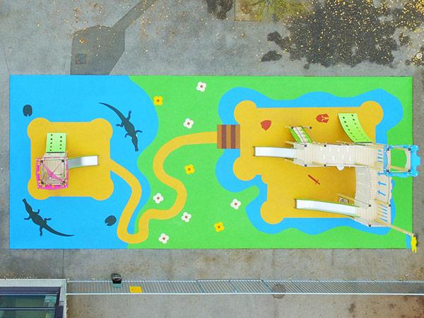 Aire de jeux thématique d'extérieur pour enfants avec sol souple - Bailly-Romainvilliers
