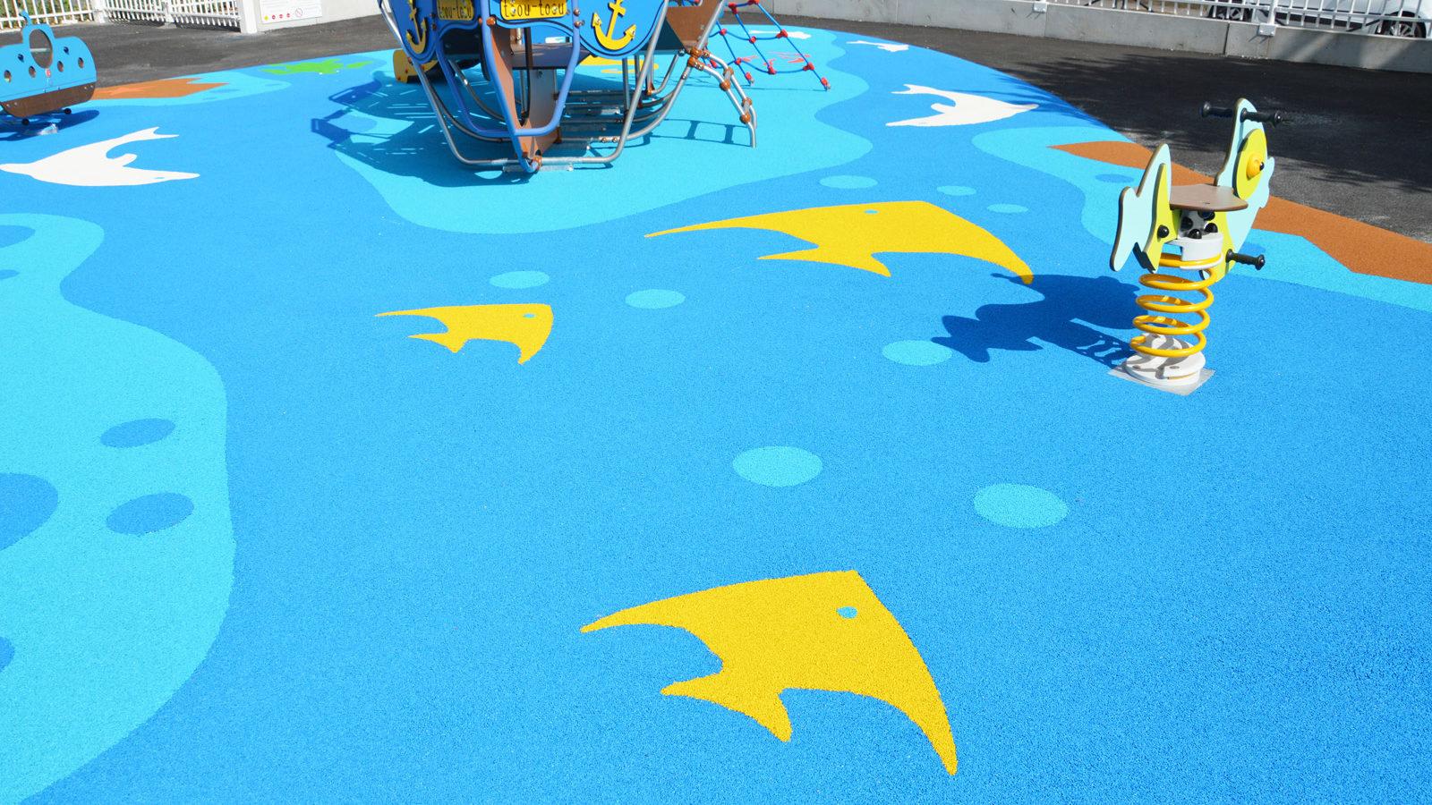 Aire de jeux thématique vingt mille lieues sous les mers à Chelles - Ecole Jules Verne