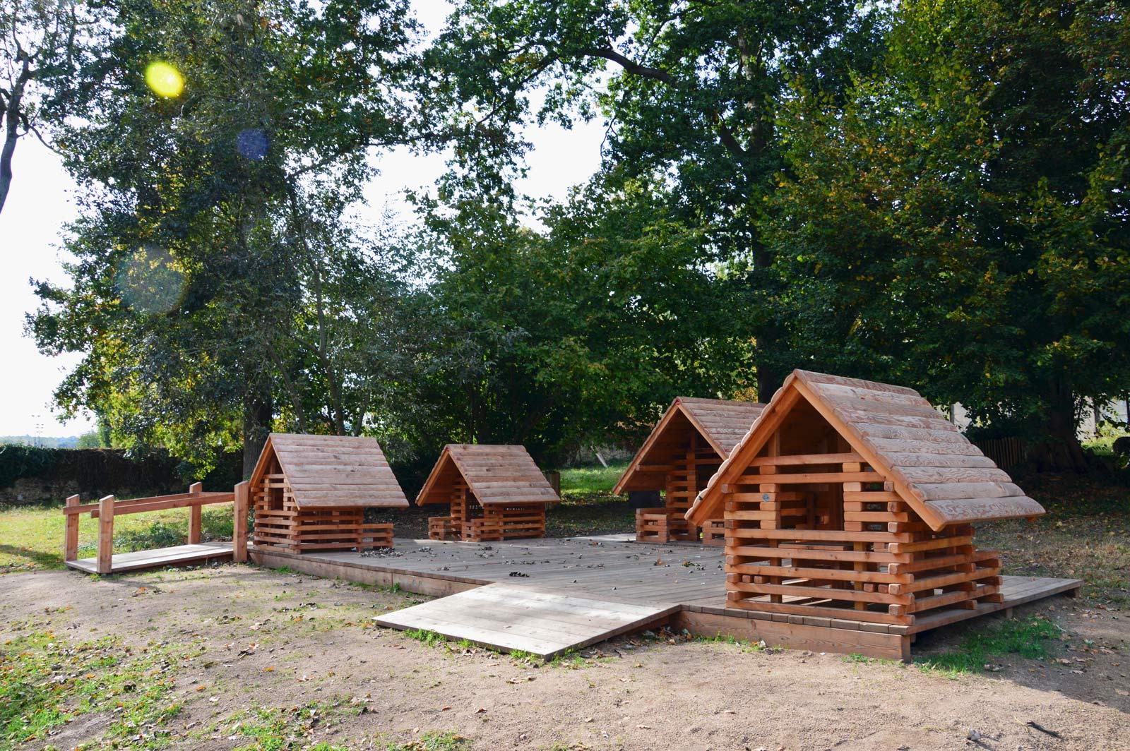Aire de jeux en bois pour enfants à Bures-sur-Yvette