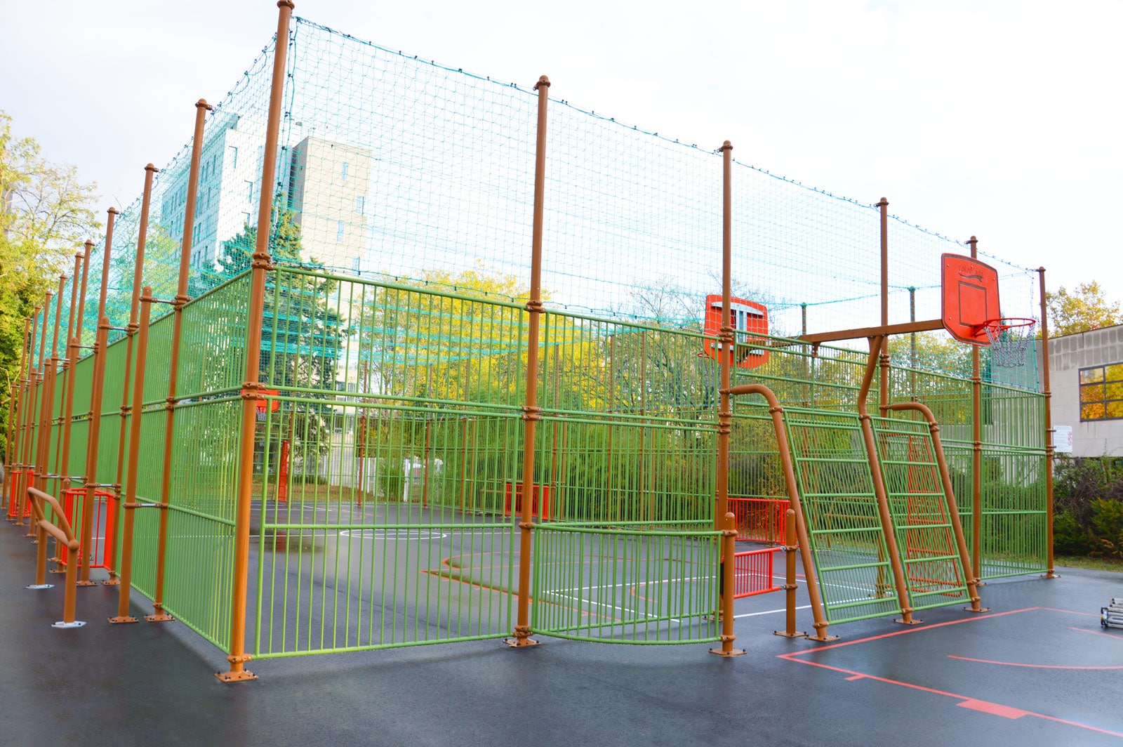 Aire de jeux Multisport Street Workout à Bobigny Square Hector Berlioz
