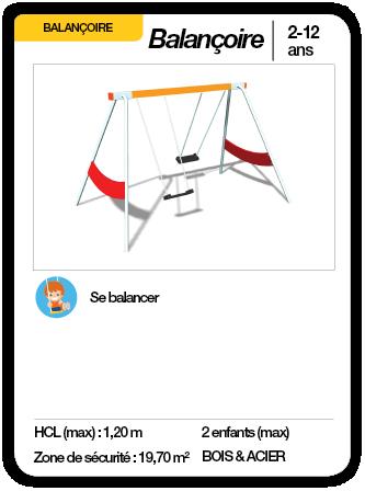 BALANÇOIRE - Balançoire 2 places