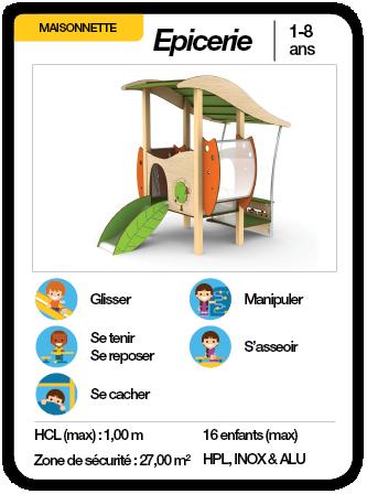 ÉPICERIE - Structure maisonnette toboggan