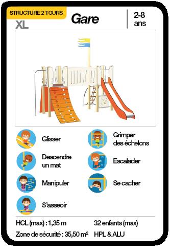 GARE - Structure multifonctions toboggan échelle escalade mat de pompier