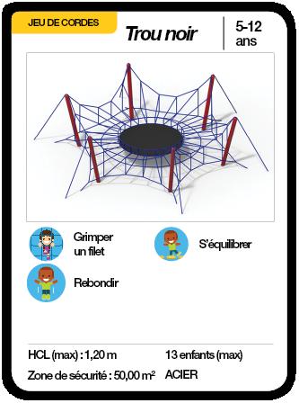 TROU NOIR - Jeu de cordes trampoline équilibre