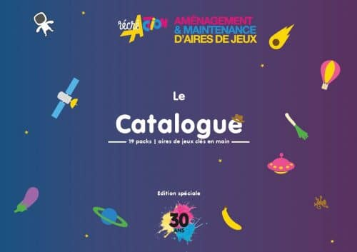 Couverture Catalogue Packs Aires de jeux 30 ans
